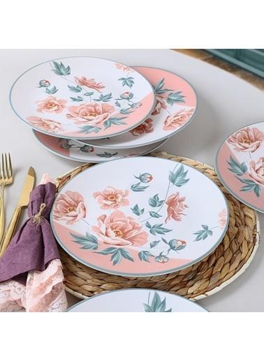 Keramika Keramika Rosetta Servis Tabağı 25 Cm 6 Adet - 19279 Renkli